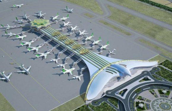 В новом аэропорту Ашхабада ввели в эксплуатацию взлетно-посадочную полосу